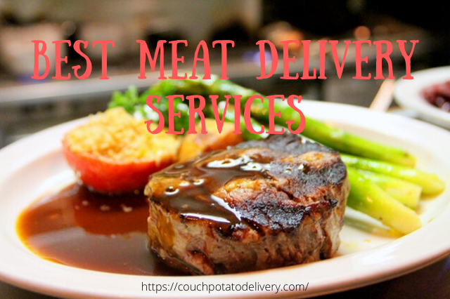 Steak on a plate deliverd by best meat delivery service