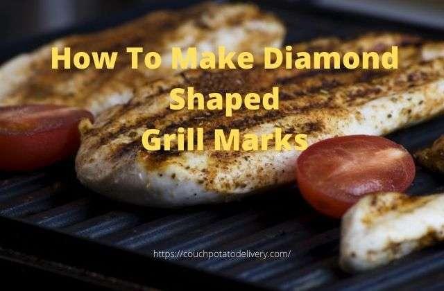 diamond shaped grill marks on a steak